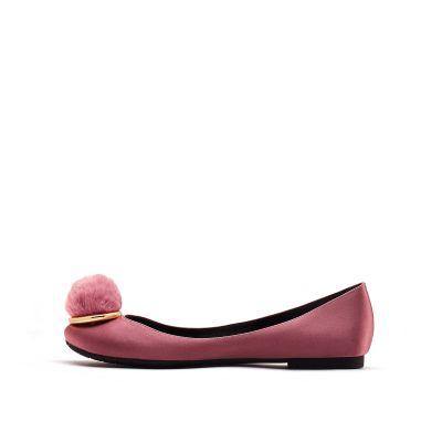 沙丁布平跟圆头单鞋